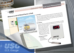 diesel fuel level measurement