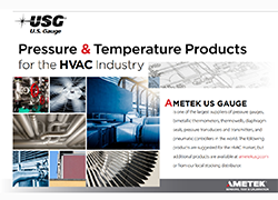 Pressure gauges, pressure transmitters, and pressure transducers for the HVAC Industry.